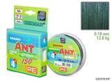Леска Плетёная Ant Green х4 150м 0.18мм 13,6кг