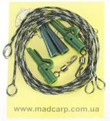 Лидкор Mad Carp с вертлюгом и клипсой 25Lb