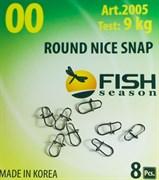 Застежка Round Nice Snap 0000 2кг 8шт/уп