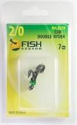 Крючки Двойные Fish Season Double Ryder Живцовые Двухуровневые 1/0 8шт/уп