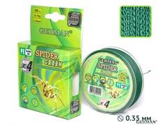 Леска Плетёная Spider Green 100м 0.40мм 39,4кг