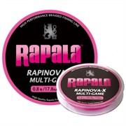 Леска Плетеная Rapinova-X Multi Game 100м #0.3 7.2Lb Pink 0.08мм