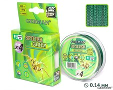 Леска Плетёная Spider Green 100м 0.14мм 9,9кг