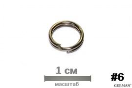 Заводные Кольца Кованые German 6009 №6 (5,5) 10шт/уп