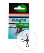 Вертлюг Три направления Kamasaki Crossline Swivel Black #4 6шт/уп