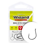 Крючки Wizard Big eye hook Drop Shot #1/0 4шт/уп