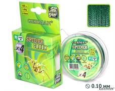 Плетенка Spider Green 100м 0.08мм 5,6кг
