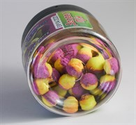Мини-Бойлы Плавающие Benzar Mix Bicolor Method 7мм PopUp Ананас-Клюква 50шт/уп
