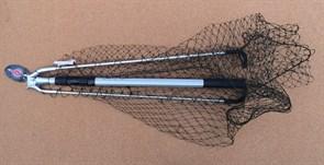 Подсак Треугольный Mifine ручка телескоп, 60х60см 1,4м леска