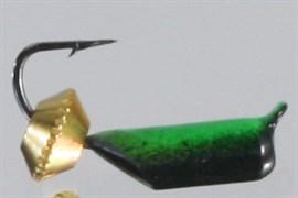 Безнасадка 2,5 Чёрно-зелёная, Золотая Тарелка 0,6гр 3шт