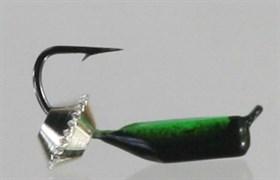 Безнасадка 2 Чёрно-зелёная, Серебряная Тарелка 0,55гр 3шт