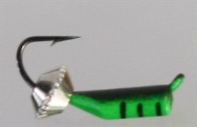 Безнасадка 2 Зелёная, Серебряная Тарелка 0,55гр 3шт