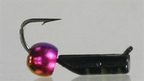 Безнасадка 2 Черная с Перламутровым Латунным Шариком 0,4гр 3шт
