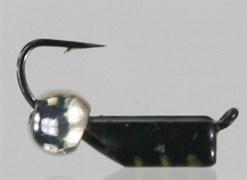 Безнасадка 2,5 Чёрная, Серебреный Латунный Шарик 0,6гр 3шт