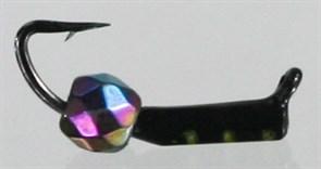 Безнасадка 1,5 Чёрная, Перламутровый Граненный Шарик 0,3гр 3шт