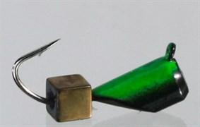 Гвоздекубик 4 Черный+зеленый, Кубик медный 1,6гр