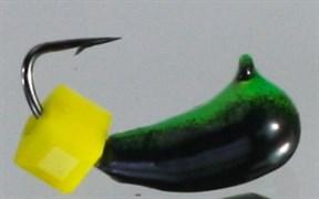 Банан 4 Чёрный+зелёный, Сырный кубик, 1,1гр