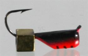 Гвоздекубик 3 Красный+чёрный, Кубик золотой 0,7гр 3шт
