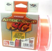 Леска флюорокарбон YGK Ambercord SG sexy fluoro100 м. #0.8 3,5lb/0,151мм