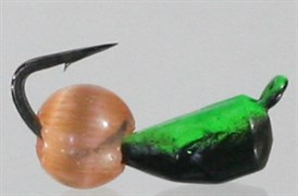 Безнасадка 3 Чёрная+зеленая, Красный Кошачий Глаз 0,7гр 3шт