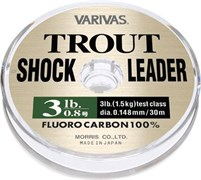 Леска флюорокарбон Varivas Fluorocarbon 100% Trout Shock Leader 30м #2.5 10Lb/0,260мм