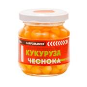 Кукуруза Карпомания в Стеклянной Банке Натуральная с ароматом Чеснока 105гр