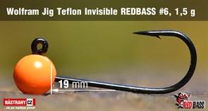Джиг-головка Вольфрамовая Teflon №6 Orange/Black 1,5гр 5шт/уп