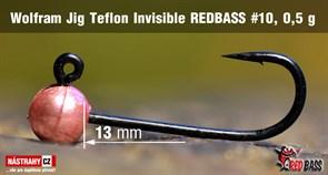 Джиг-головка Вольфрамовая Teflon №10 M-Pink/Black 0,5гр 5шт/уп
