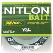Леска YGK Nitlon Bait DMV 100% Nylon 100м #3 12Lb/0,291мм