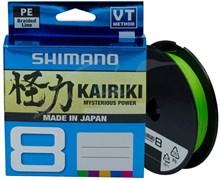 Леска плетёная Shimano Kairiki 8 PE 150м зеленая 0.100мм 6.5кг
