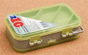 Коробка для Приманок Aquatech 2510 двухсторонняя 10 ячеек 150x100x43мм