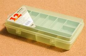 Коробка для Приманок Aquatech 7100 со скользящей полкой 12 ячеек 215x120x45мм