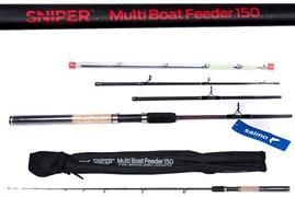 Удилище фидерное Salmo Sniper Multi Boat Feeder 150 (до 150)  2,1/2.4м. (4115-210-240)