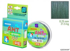 Плетенка Ant Green х4 150м 0.25мм 21,5кг
