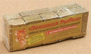 Жмых Кукурузный ЗР в Кубиках 0,5кг с ароматом Клубники