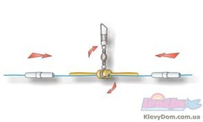 Глухое крепление матчевого поплавка Stonfo Big Size Float Attachment с вертлюгом 3шт/уп 1гр