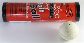 Прикормка шарообразная гейзер Bait Ball в красном тубусе 300гр Клубника