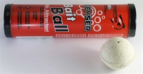 Прикормка шарообразная гейзер Bait Ball в красном тубусе 300гр Тутти-фрутти