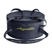 Ведро Aquatic В-03 для замешивания прикорма с крышкой, синее
