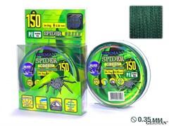 Леска Плетёная Spider Green 150м 0.35мм 34,5кг