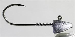 Микро-джиг Barbarian с пружинкой Малёк крючок №2 4гр