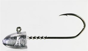 Микро-джиг Barbarian с пружинкой Пуля крючок №2 2гр