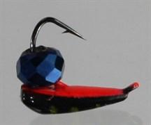 Хрень 3 Чёрная + красная, синий гранёный шарик 0,65гр