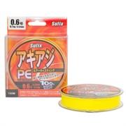 Леска плетеная Sufix PE Glide Master желтая 135м 0.12мм 8.1кг/PE0.6