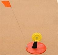 Жерлица D20 Оранжевая с жёлтой большой катушкой