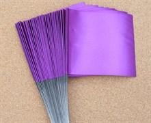 Флажки для жерлиц большие фиолетовые 50шт 11х10см