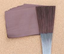 Флажки для жерлиц большие коричневые 50шт