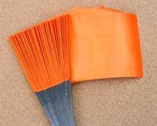 Флажки для жерлиц большие оранжевые 50шт