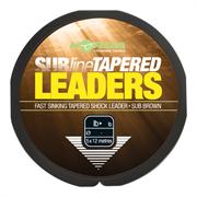 Лидер конический Korda Subline Tapered Leader 0.33-0.50мм Brown