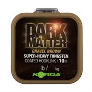 Поводковый материал Korda Dark Matter Tungsten Coated Braid Gravel Brown 18lb 10м
